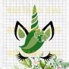 Unicorn St patrick's day Svg, Svg Files For Cricut, SVG, DXF, EPS, PNG Instant Download