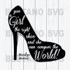 The right shoe Cutting Files For Cricut, SVG, DXF, EPS, PNG Instant Download