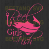 Reel girl fish Cutting Files For Cricut, SVG, DXF, EPS, PNG Instant Download