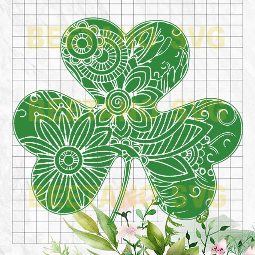 Mandala lucky charm Cutting Files For Cricut, SVG, DXF, EPS, PNG Instant Download