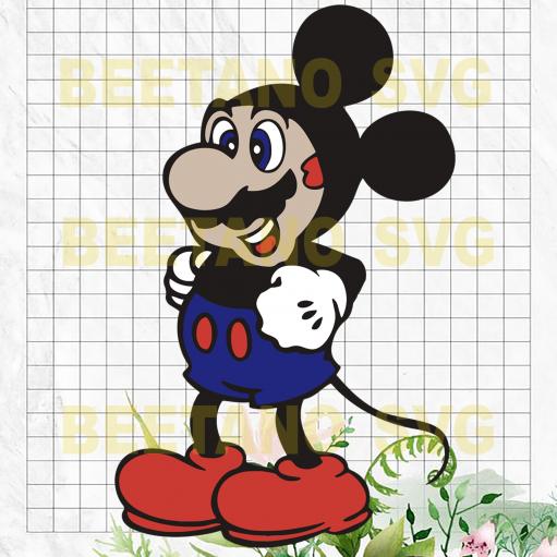 Super Mickey Svg, Super Mario Mickey Mouse Clipart, Super Mickey Files For Cricut, Funny Mickey Mouse Svg, Cutting Files For Cricut, SVG, DXF, EPS, PNG Instant Download