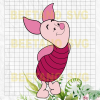 Piglet Svg, Piglet Winnie Pooh Svg, Piglet Winnie Pooh Character Files, Winnie Pooh Svg, Piglet Winnie Pooh Cutting Files For Cricut, SVG, DXF, EPS, PNG Instant Download