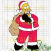 Santa Simpson Svg, Santa Simpson Cutting Files, Santa Simpson Vector, Santa Simpson Vector, The Simpsons Svg Cutting Files For Cricut, SVG, DXF, EPS, PNG Instant Download