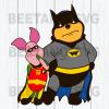 Winnie Pooh Batman Svg, Winnie Pooh Batman Clipart, Winnie Pooh Batman Vector, Winnie Pooh Batman Files, Winnie Pooh Batman Cutting Files For Cricut, SVG, DXF, EPS, PNG Instant Download