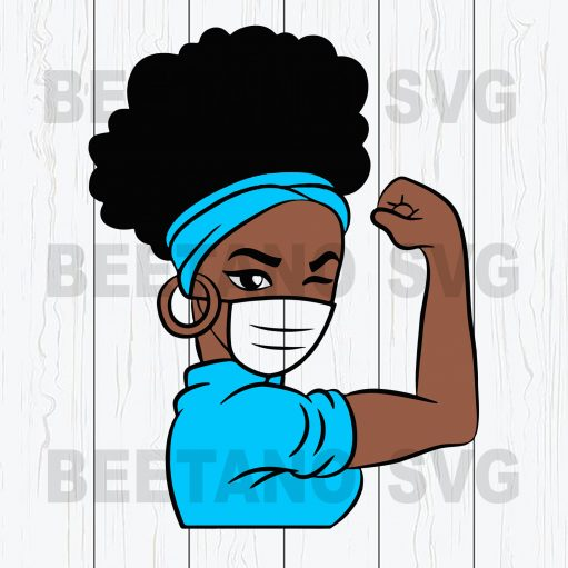 Afro Girl Power Wear Face Mask Svg Files