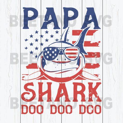 Papa Shark Doo Doo Doo Svg Files, Papa Shark Svg Files, Shark Svg Files, Papa Svg, Family Svg