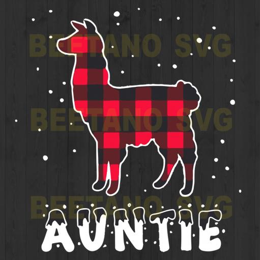 Auntie Christmas Svg