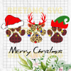 Merry Christmas Paw Svg, Paw Christmas Svg, Santa Paw Svg Files, Paw Cutting Files, Christmas Paw Cutting Files For Cricut, SVG, DXF, EPS, PNG Instant Download