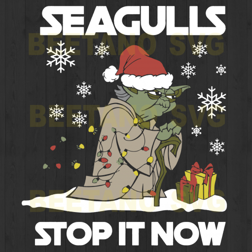 Seagulls Stop It Now Yoda Star war Svg, Yoda Santa Svg, Yoda Vector, Yoda Santa Cricut, Star war Christmas Files For Cricut, Yoda Cutting Files For Cricut, SVG, DXF, EPS, PNG Instant Download