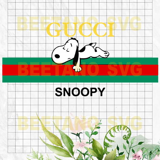 Snoopy Gucci Svg Files