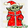 Baby Yoda Santa Svg Files