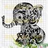 Mandala Baby Elephant Svg, Mandala Baby Elephant Vector, Mandala Baby Elephant Clipart, Mandala Elephant Vector, Elephant Cutting Files, Mandala Baby Elephant Cutting Files For Cricut, SVG, DXF, EPS, PNG Instant Download