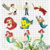 Mermaid character Cutting Files For Cricut, SVG, DXF, EPS, PNG Instant Download