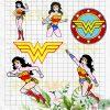 Wonder woman Bundle Cutting Files For Cricut, SVG, DXF, EPS, PNG Instant Download