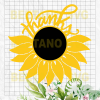 Sunflower thanks Files For Cricut, SVG, DXF, EPS, PNG Instant Download