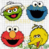 Sesame Street character Cutting Files For Cricut, SVG, DXF, EPS, PNG Instant Download