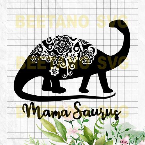 Mandala Mamaraurus Cutting Files For Cricut, SVG, DXF, EPS, PNG Instant Download