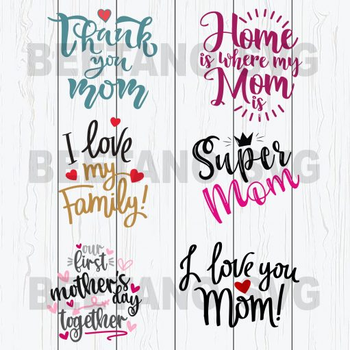 Super Mom Home Is Where My Mom Is Svg Bundle Files, Family Svg Bundle Files, Mother Svg