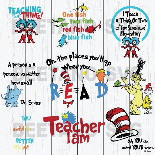One Place You Will Go When You Read Dr Seuss Svg Bundle Files, Dr Seuss Bundle Svg, Reading Svg Bundle Files