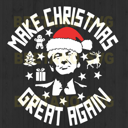 Trump Make Christmas Great Again Svg, Trump Santa Svg, Santa Svg, Christmas Svg, Christmas Cutting Files For Cricut, SVG, DXF, EPS, PNG Instant Download