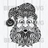 Mandala Santa Claus Svg, Mandala Santa Svg, Mandala Christmas Svg, Mandala Santa Cutting Files For Cricut, SVG, DXF, EPS, PNG Instant Download