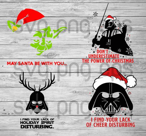May be santa be with you star war svg, star war christmas svg. star war christmas quotes svg, santa star war svg, santa svg, santa hat svg