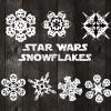 Star war snowflake svg, Snowflake svg, Snowflakes clipart. Snowflake cut files digital download svg, star war svg, christmas svg, star war christmas svg
