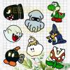 Super Mario Game Svg Bundle, Super Mario Svg Bundle, Super Mario Character Svg Bundle, Super Mario Cutting Files For Cricut, SVG, DXF, EPS, PNG Instant Download