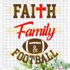 Faith Family Football Svg