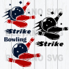 Strike Bowling Svg, Bowling Vector, Bowling Vector, Bowling Svg Files, Bowling Cutting Files For Cricut, SVG, DXF, EPS, PNG Instant Download