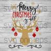 Merry christmas yall svg, christmas quotes svg files, reindeer christmas svg, christmas clipart, reindeer cutting files, reindeer christmas svg