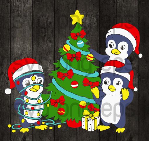 Penguin christmas tree svg, penguin christmas svg files, penguin svg, christmas tree svg, penguin christmas svg, penguin christmas svg cutting files