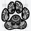 Paw Svg Files, Mandala Paw Svg Files, Mandala Svg, Paw Svg, Mandala Paw Cutting Files For Cricut, SVG, DXF, EPS, PNG Instant Download