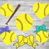 Softball Bundle Svg Files For Cricut, SVG, DXF, EPS, PNG Instant Download