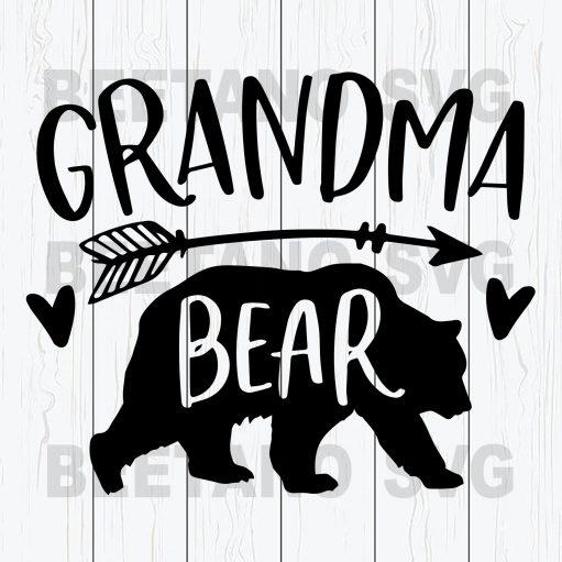 Grandma Bear Svg Files