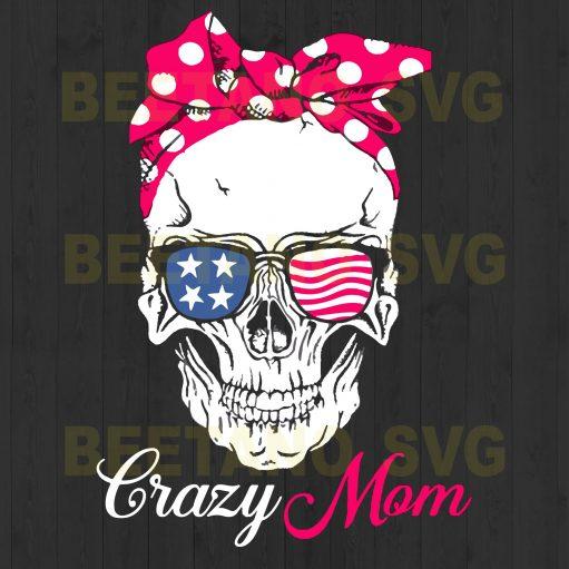 Crazy Mom Skull