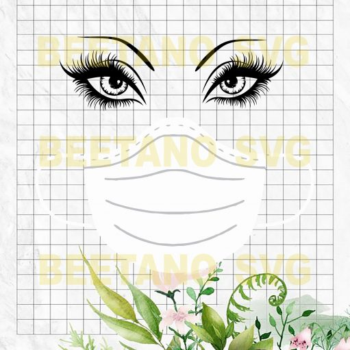 Mask Face Svg Files, Mask Face Cutting Files For Instant Download