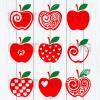 Apple teacher logo svg