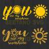 You are my sunshine Cutting Files For Cricut, SVG, DXF, EPS, PNG Instant Download