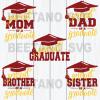 Family graduate mom dad