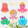 Octopus baby funny Files For Cricut, SVG, DXF, EPS, PNG Instant Download