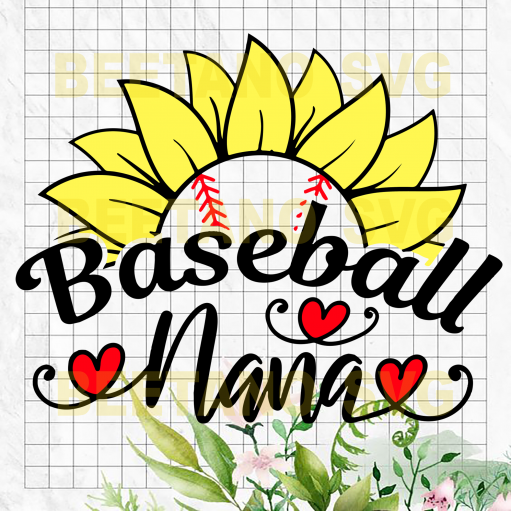 Baseball nana Cutting Files