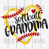 Softball grandma Cutting Files For Cricut, SVG, DXF, EPS, PNG Instant Download