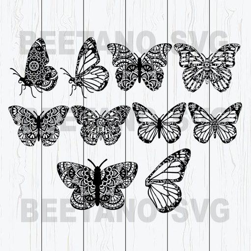 Mandala Butterfly Svg Bundle Files, Mandala Butterfly Svg, Butterfly Svg Bundle Files, Mandala Svg