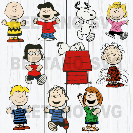 Snoopy Svg bundle, snoopy characters cut files bundle svg, eps, dxf, png cutfiles for Cricut Silhouette Cameo, charlie brown, joe cool svg