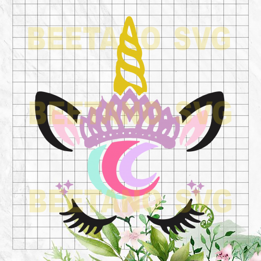 Princess unicorn Cutting Files For Cricut, SVG, DXF, EPS, PNG Instant Download
