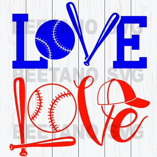 Baseball love Files For Cricut