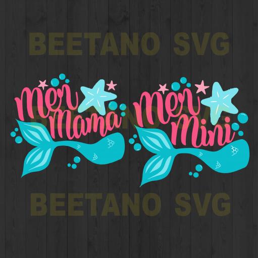 Mermaid Svg Bundle, Mermaid Mama Mermaid Mini Svg Files, Mermaid Svg, Mermaid Cutting Files