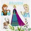Frozen Princess Anna and Elsa