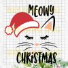 Meowy Christmas Svg, Cat Christmas Svg, Files For Cricut, SVG, DXF, EPS, PNG Instant Download - BeetanoSVG Scalable Vector Graphics